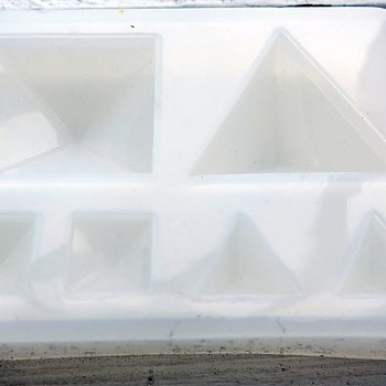 Silkonform - Spetsiga Kvadrater och trianglar 1 form