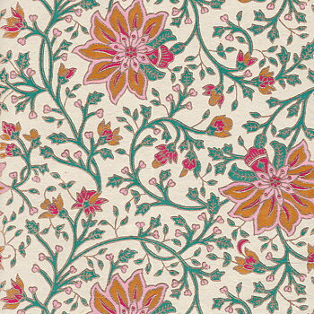Floral pattern, gold
