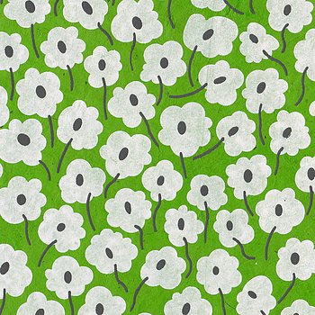 Loktapaper with flowerprint, green