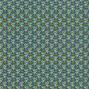 Olivgren, blå