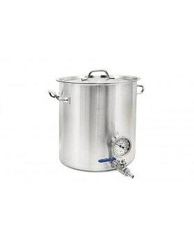 Kittel 20 liter med tappkran och termometer