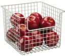 Metal Basket, CLASSICO OPEN, 25,5  x 25,5 x H 20, Satin