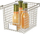 Stackable Metal Basket, CLASSICO, 22 x 25,4 x H 20,5 cm, Satin
