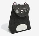 Storage bag for kids, CAT, 51 x 25,5 x H62,5 cm, Dark Grey