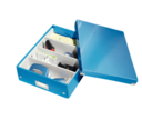 Box with dividers, CLICK & STORE MEDIUM, 28 x 37 x H10 cm, Leitz, Blue