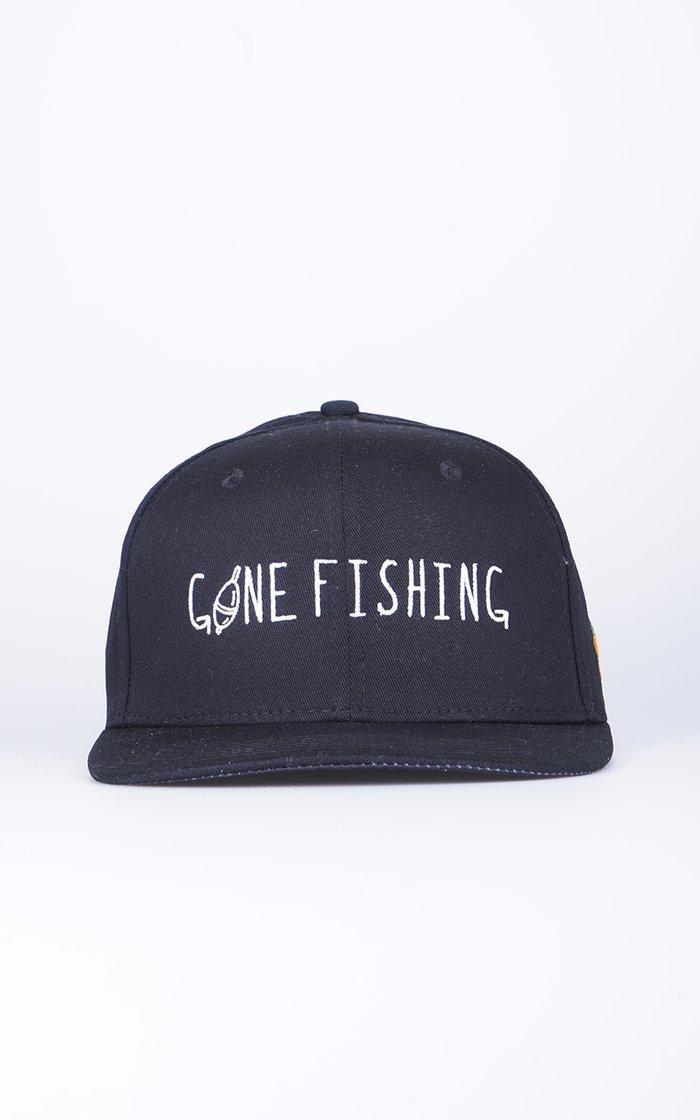 SQRTN Gone Fishing Keps Black