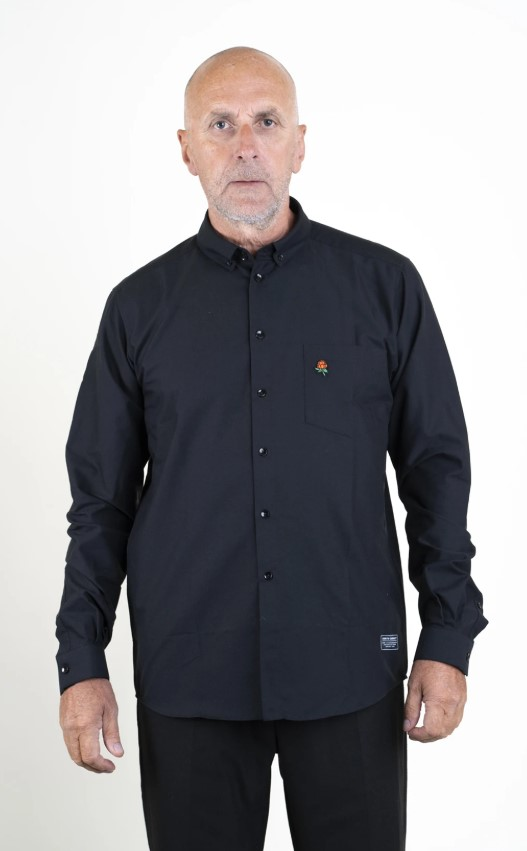 SQRTN CB Sketch Oxford Shirt Black