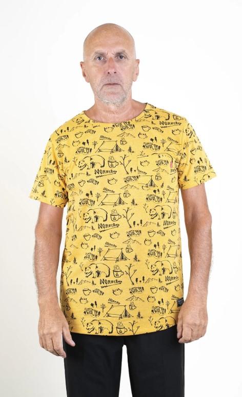 SQRTN Into Pocket T-shirt Mustard