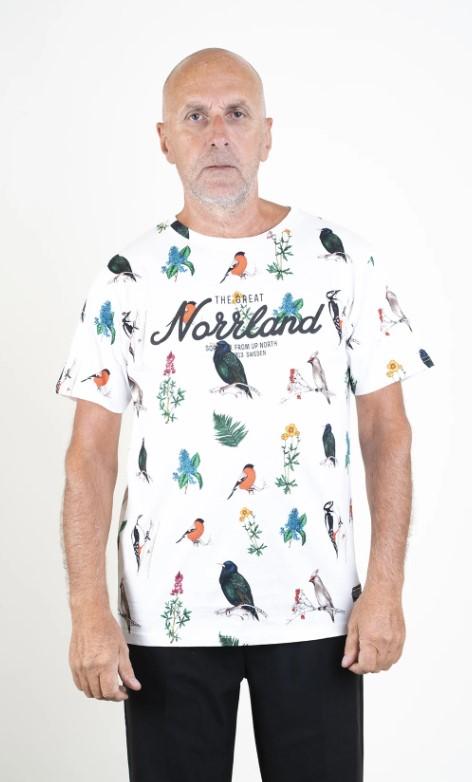 SQRTN Great Norrland T-shirt Bird White