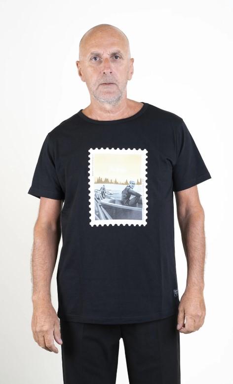 SQRTN Stamped Timber T-shirt Black