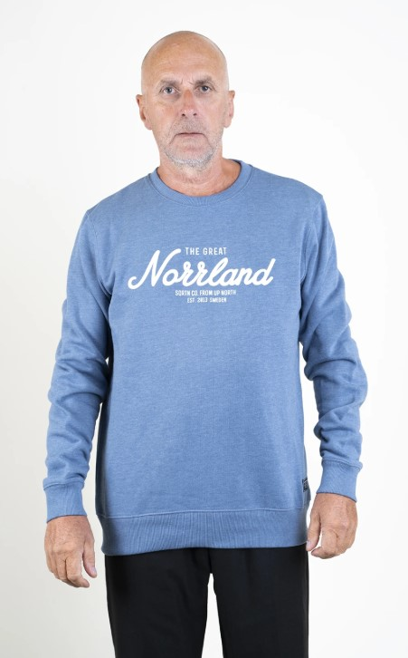 SQRTN Great Norrland Crewneck Blue Heather