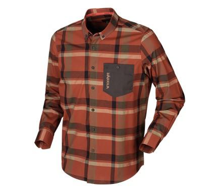 Härkila Amlet Skjorta Dark Burnt Orange Check