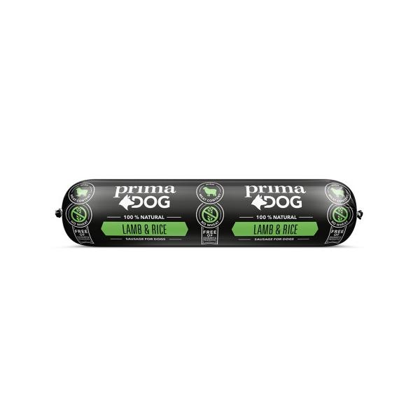 Prima Dog Köttkorv Lamm & Ris 800 g