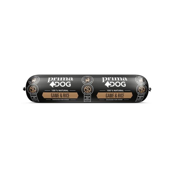 Prima Dog Köttkorv Vilt & Ris 800 g