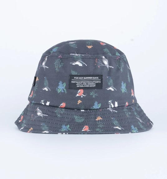 SQRTN Bucket Hat Bird Black