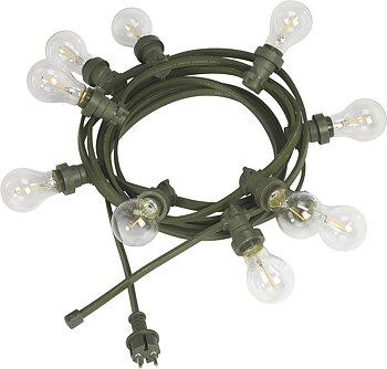 PR HOME Bright light string Grön m. ljuskälla Klar 7m