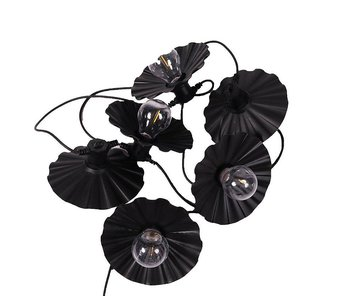 PR HOME Daisy light string Black 7,2 m