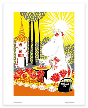 Moomin mini poster - Moominmamma picking berries