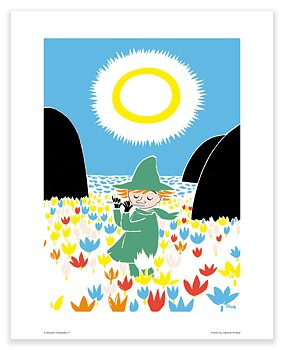 Moomin mini poster - Snufkin playing flute