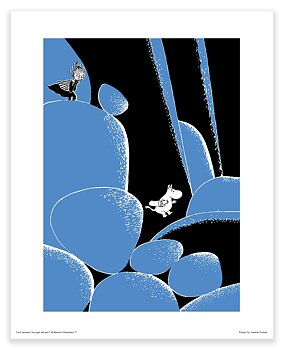 Moomin mini poster - Moomin and Mymble