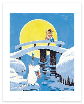 Moomin mini poster - Moominland Midwinter bridge