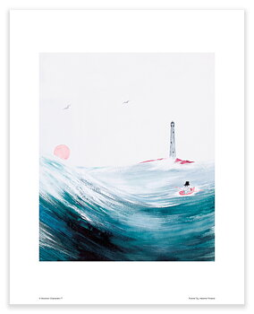Moomin mini poster - Moominpappa at Sea