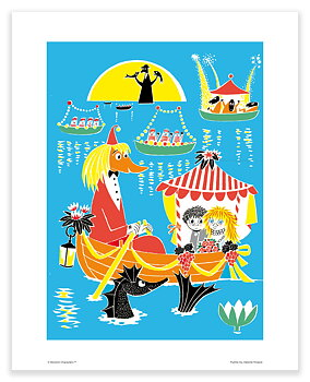 Moomin mini poster - Toffle and Miffle