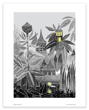 Moomin mini poster - Light in the window