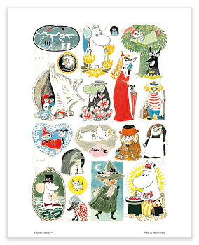 Moomin mini poster - Scrap pictures