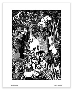 Moomin mini poster - Jungle house