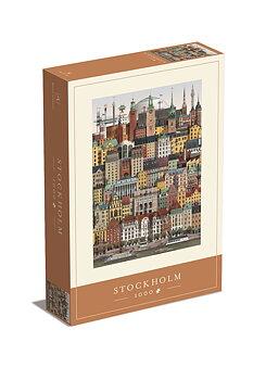 Jigsaw puzzle Stockholm 1000 pieces - Martin Schwartz