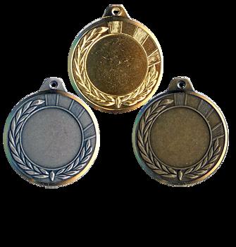 Medalj av mässing 40 mm