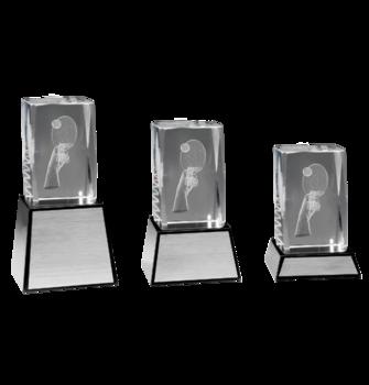 Bordtennis 3D glas