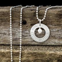 Cirkel 22mm - Hänge med pärla