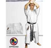WKF Hayashi Karate Kata GI Yuuga Master Vit, 12 oz 100% Bomull