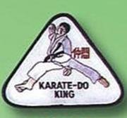 Broderat Märke Karate King