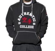 "Hayashi ""Karate College"" Hood, Black"