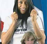 Topten Ultimate Women Fight T-Shirt/hood, Vit/Svart, Large