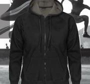 Pro One Pile Hood Long Zip, Black Medium