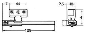 Ventilationsbeslag 92 vit för inåtgående fönster