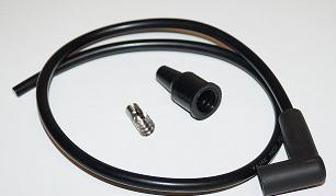 Tändkabel med tändhatt 7 mm svart 91100