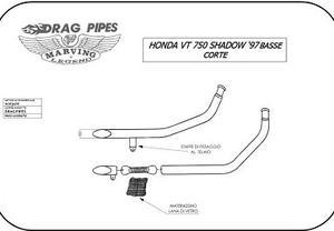 Marving Ljuddämpare Low Long Honda VT Shadow 1997- (HJC31IX)