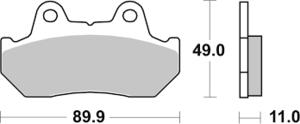542HF SBS Bromspads Honda CB125T- GL1500