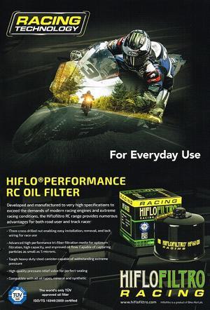 HF170CRC Oljefilter Racing H-D