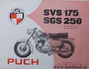 1957 Puch SVS 175 och SGS 250 broschyr