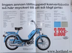 1990 Jawa Moped broschyr