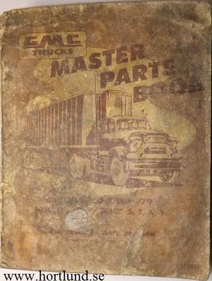 1958 GMC 550 - 970 Master Parts Book