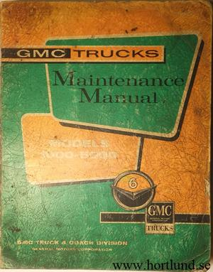 1960 GMC 1000-5000 Truck Maintenance Manual