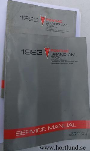 1993 Pontiac Grand Am Service Manual