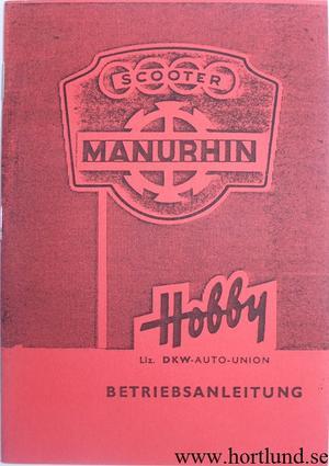 1957 - 1962 DKW Hobby Manurhin Scooter Instruktionsbok